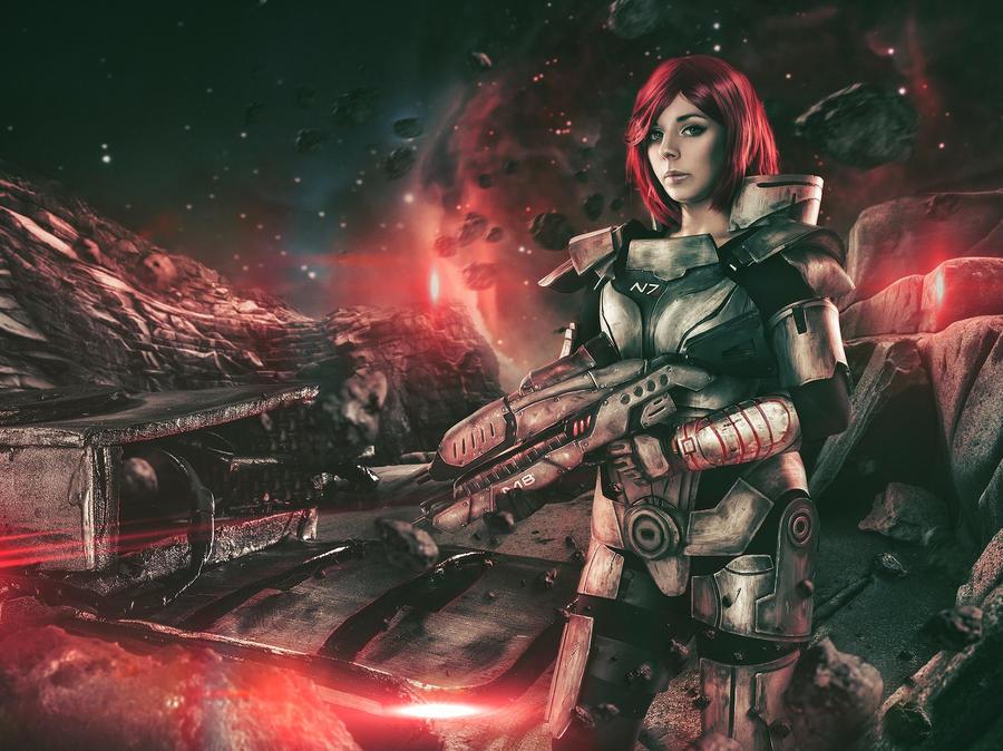 Commander Shepard Cosplay by Alejandra-perez