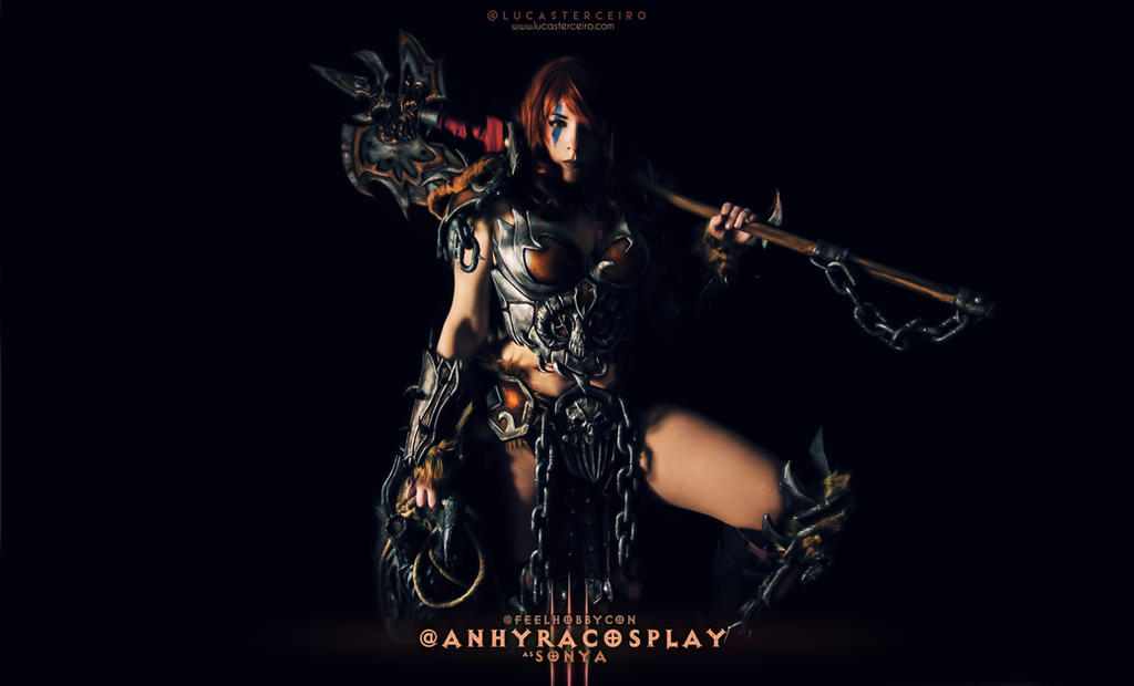 Sonya Cosplay - Diablo 3 Barbarian by Anhyra