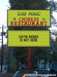 Justin Bieber sign