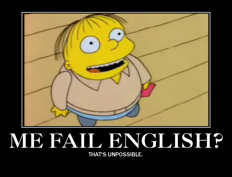 Me fail english demotivator by PurplePhoneixStar