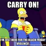 Homer Simpson on Black Friday meme