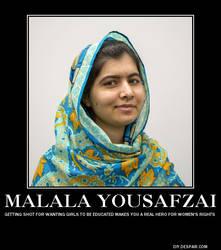 Malala Motivational Poster by PurplePhoneixStar