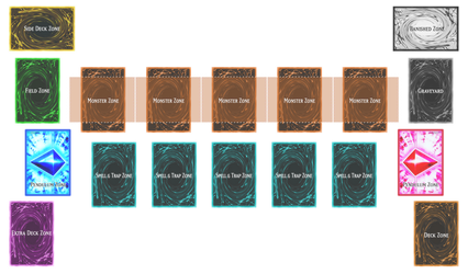 Yu-Gi-Oh! Playmat Template (No Background)