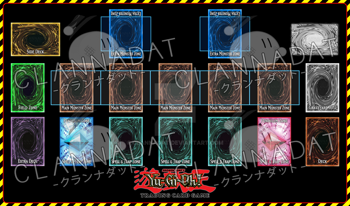 Yu gi oh playmat template vrains prototype by clannadat for Yugioh mat template