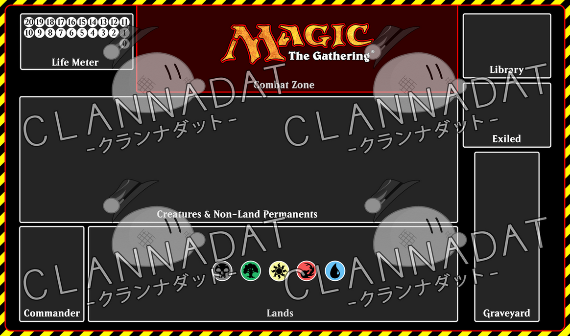 yugioh mat template - magic the gathering playmat template prototype by