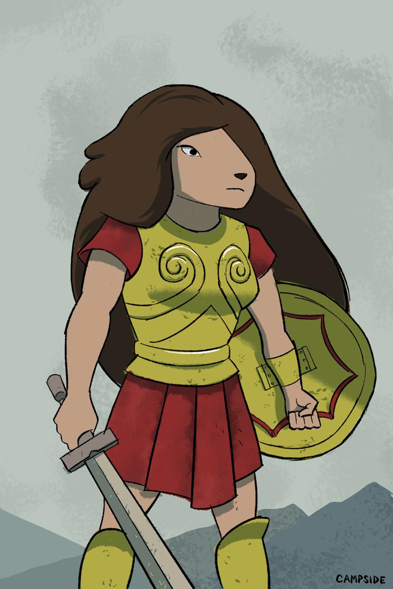 Samantha wearing Greek armour by Campside on DeviantArt