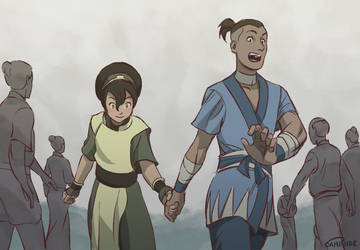 Sokka and Toph by Campside