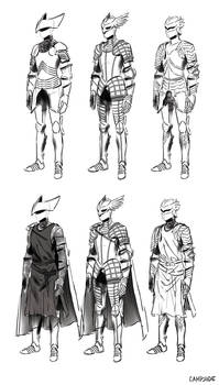 Aru and the Magical Mask - Warrior Designs