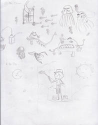 sketches fer my art class