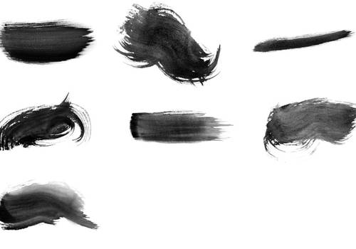 High-Res Watercolor Photoshop Brushes