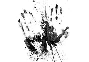 Hand Print Grunge
