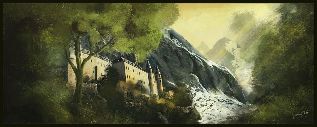 Castle Matte painting