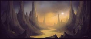 Fantasy landscape sketch