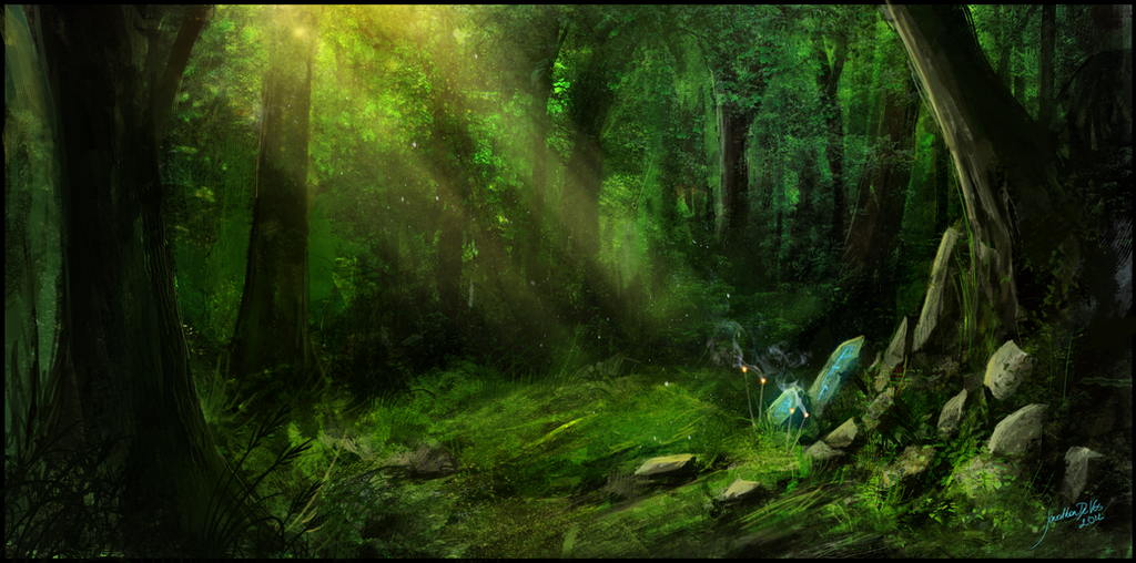forest speedpaint by JonathanDeVos