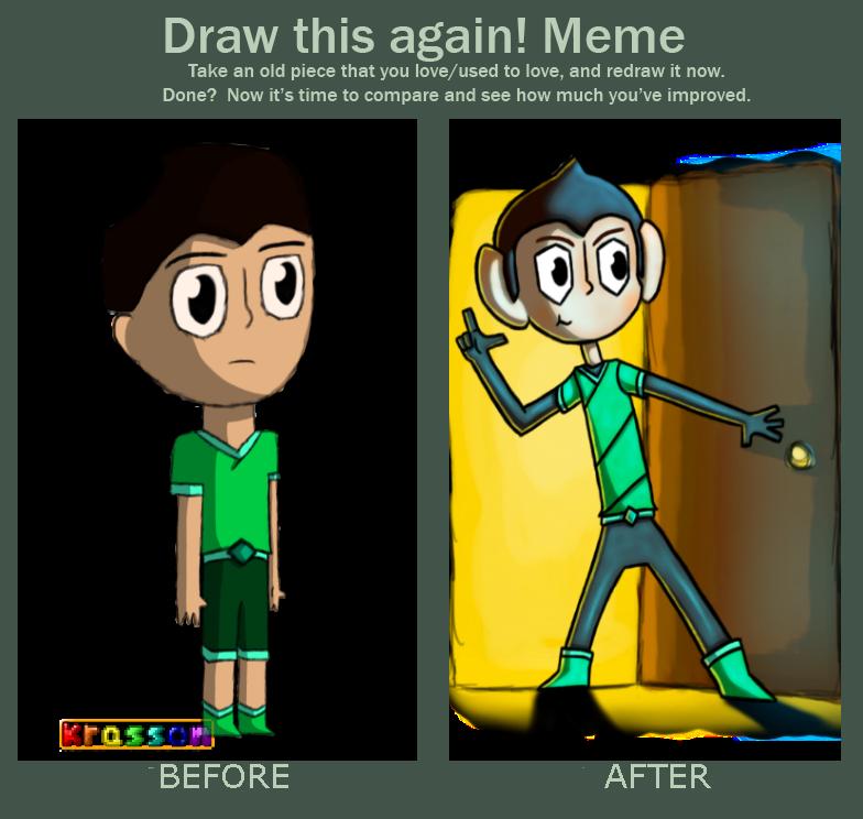 draw this again meme template - draw this again meme by kattsentientblue on deviantart
