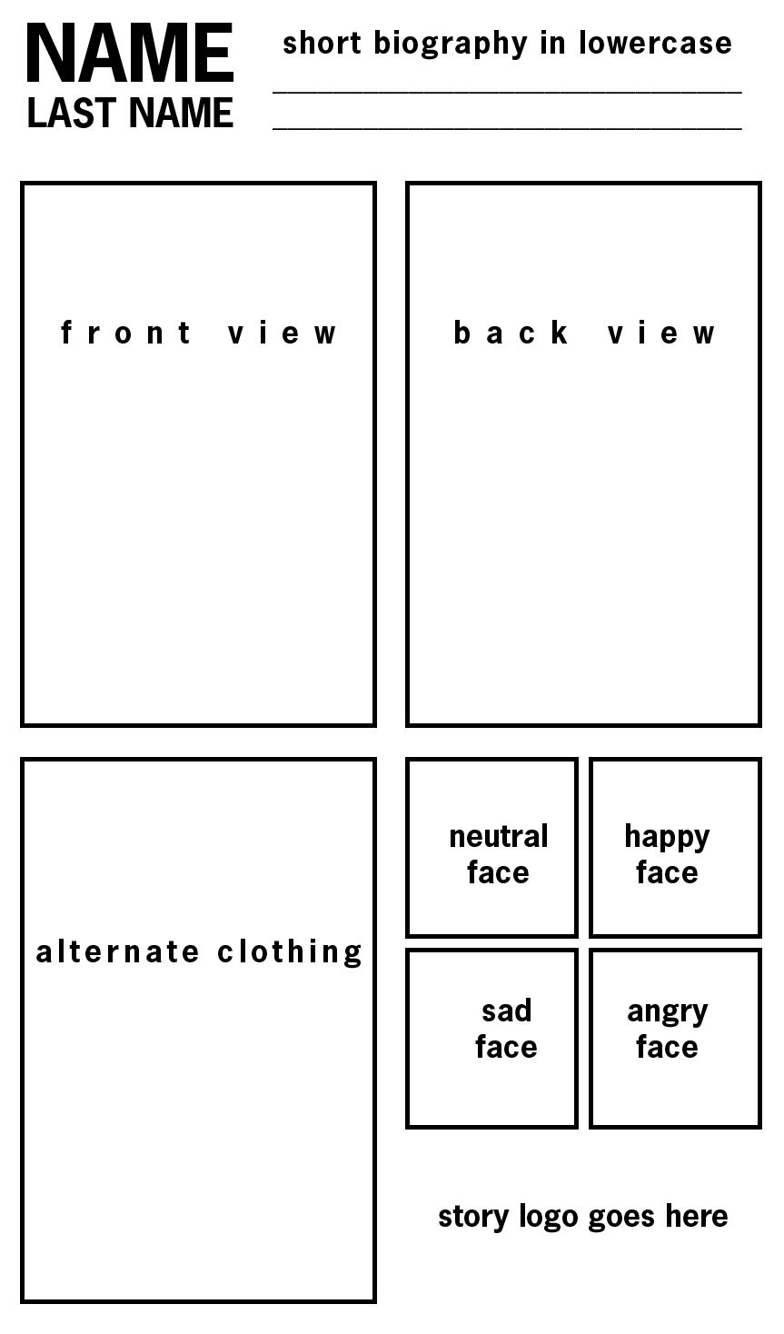 Refsheet Template: printable by MyNameIsMad
