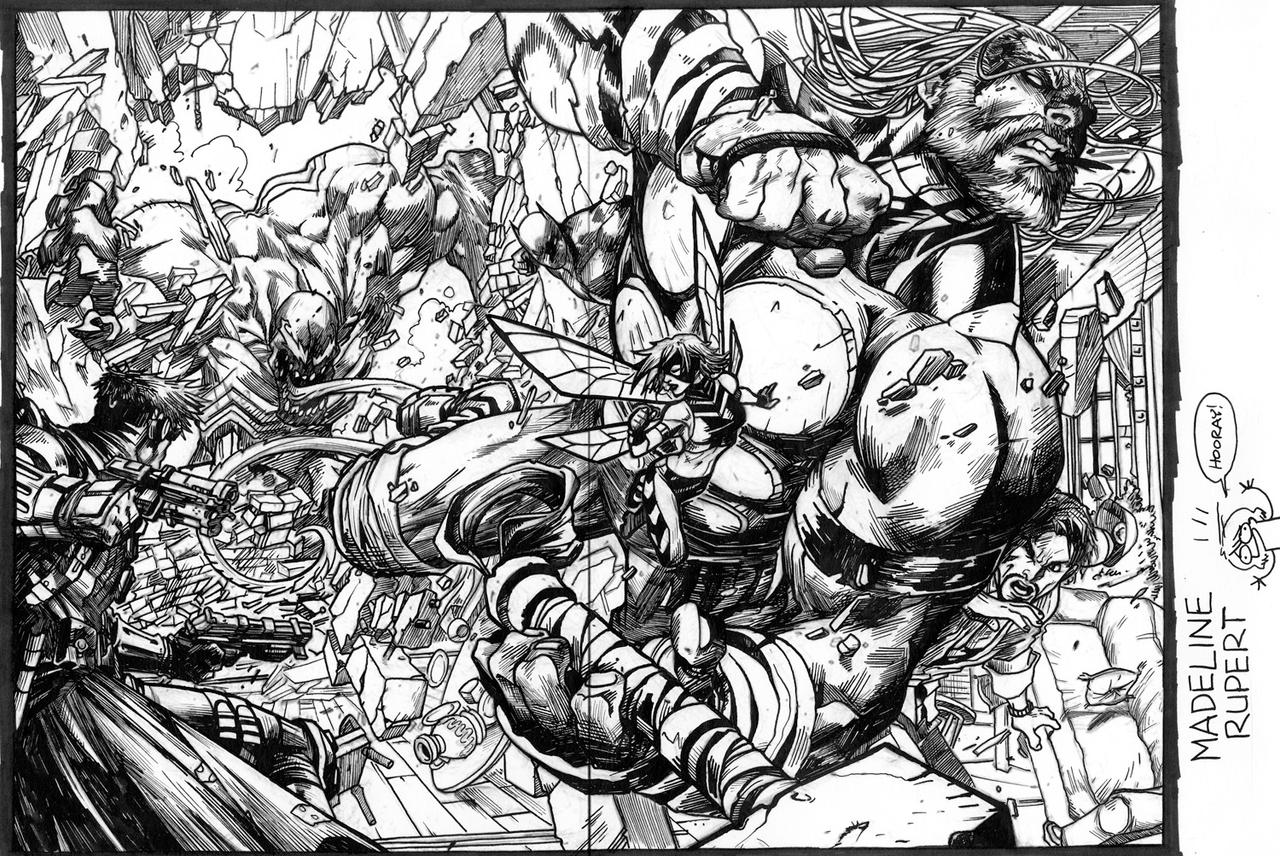 OBVIOUSLY INKING PRACTICE by MyNameIsMad