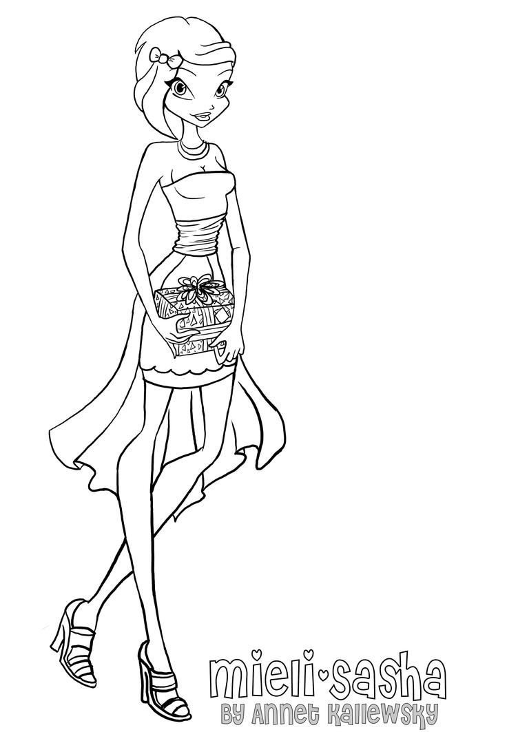 winx charmix coloring pages - photo#24