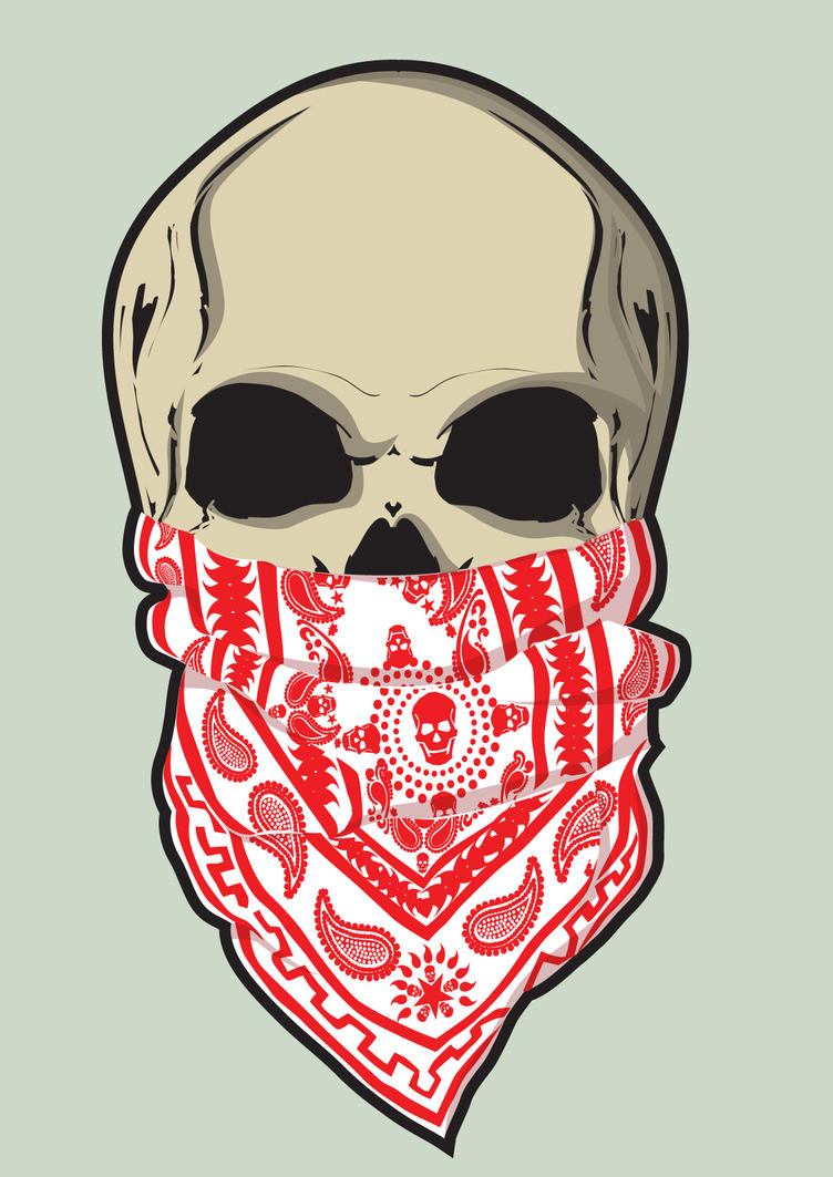 skull and bandana by nata13 on DeviantArt