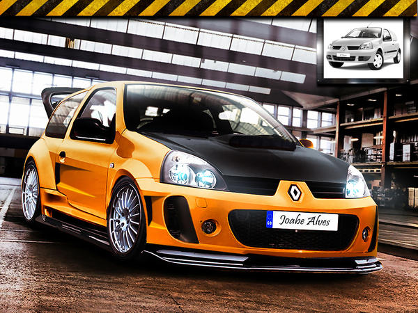 renault clio virtual tuning by joabedesign on deviantart. Black Bedroom Furniture Sets. Home Design Ideas
