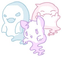 Ghost Trio Adoptables CLOSED by kimmyjh