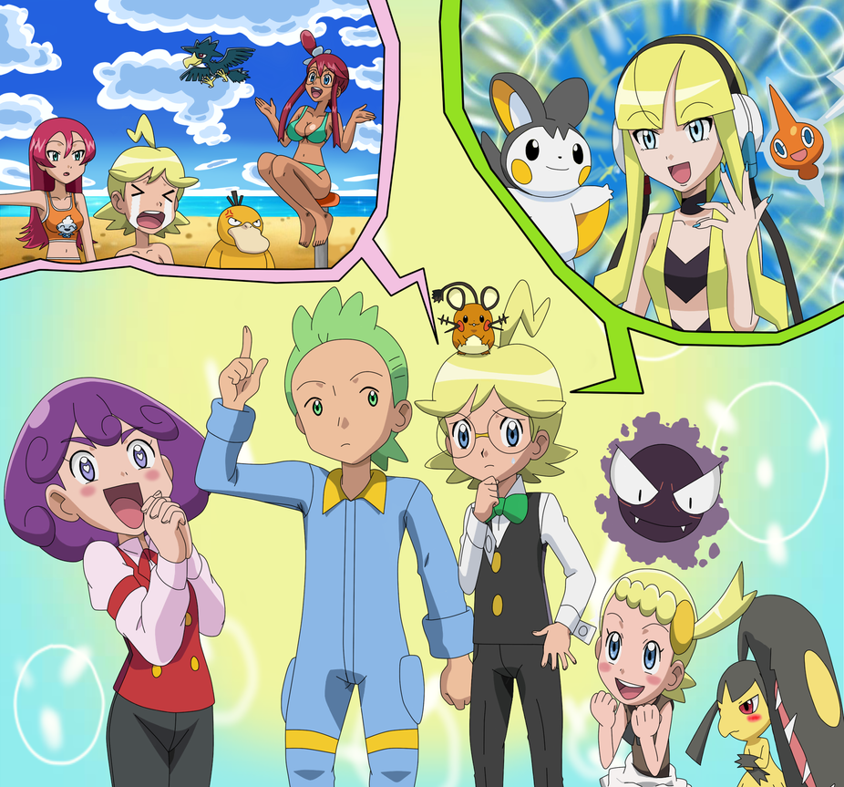 The Shocking switching places of Cilan nd Clemont! by