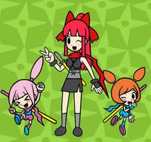 Kat, Ana and Shuritana Wallpaper by Gamer5444