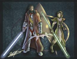 Klingon and Vulcan Jedi by DorianAvila