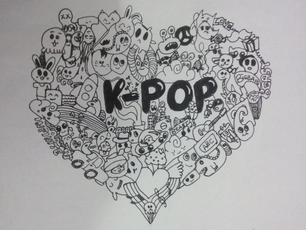 Kpop Doodle by hogwartsayolcu on