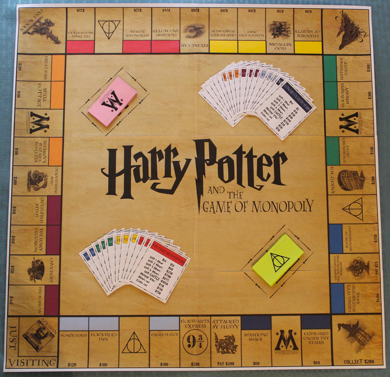 Harry Potter Monopoly Print It Yourself By Funkblast On