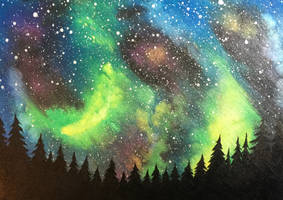 Watercolor Galaxy by FunkBlast