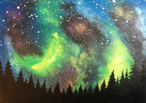 Watercolor Galaxy