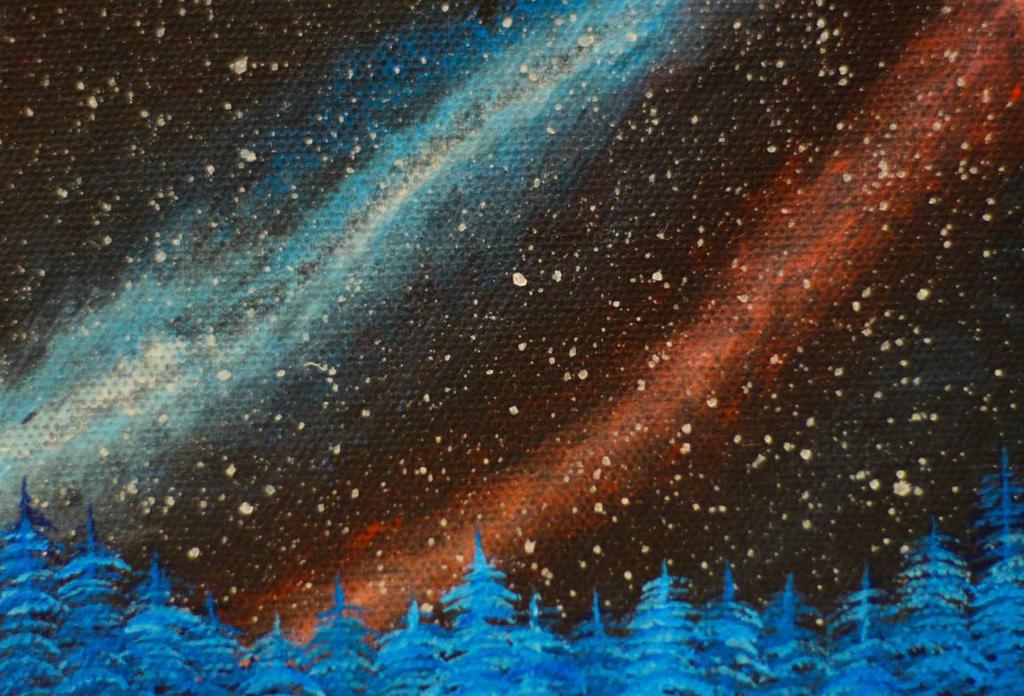 Happy Tree Galaxy (original for sale) by FunkBlast