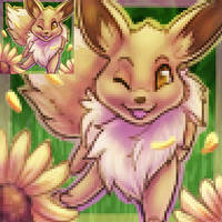 Port/Icon Commission: Eevee by vextrea