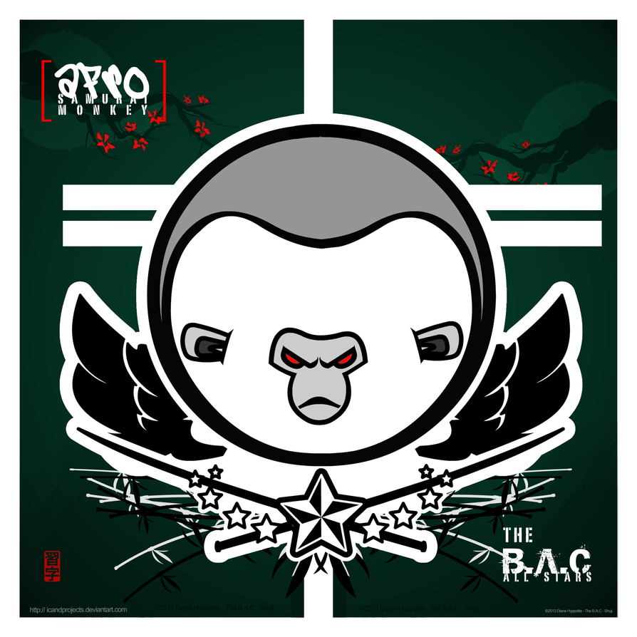 Afro Samurai Monkey - The B.A.C by icandprojects