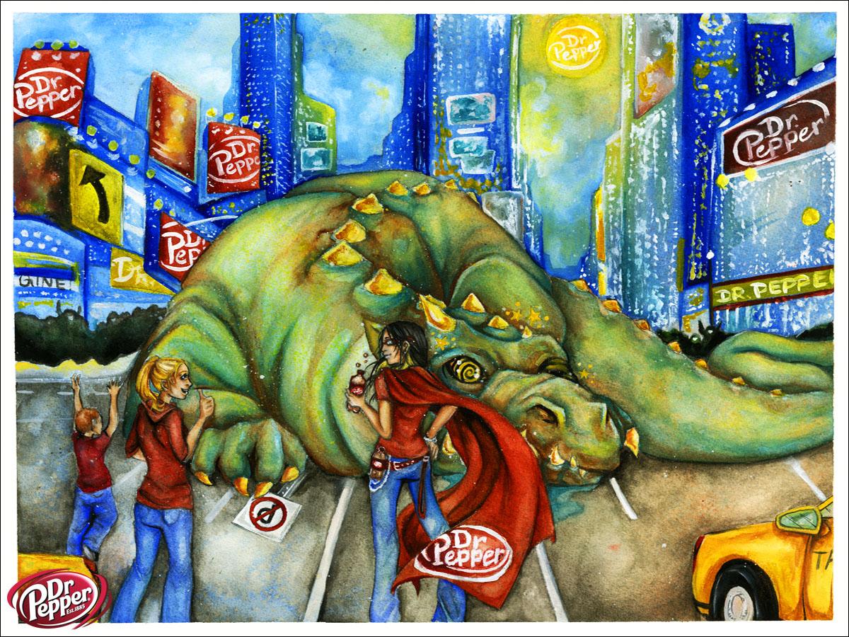 Dr. Pepper's Superhero by JessicaCanvas