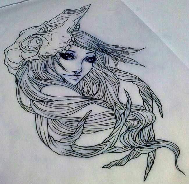 Tattoo Woman Deer: Deer Skull Tattoo By JessicaCanvas On DeviantArt