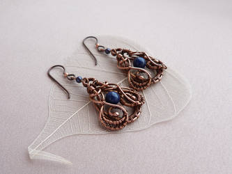Earrings with lapis lazuli by UrsulaJewelry