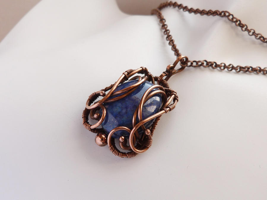 Pendant with lapis lazuli by UrsulaOT