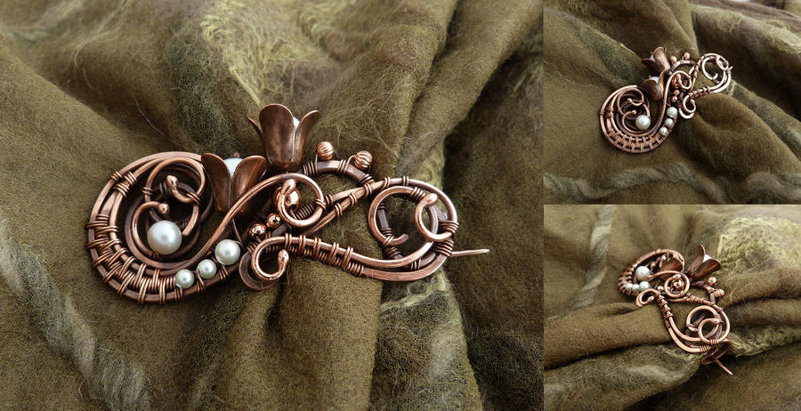 Brooch Heather by UrsulaOT