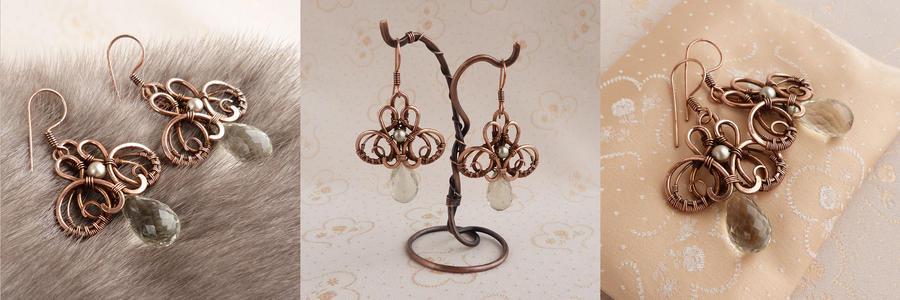 Earrings Mon Plaisir by UrsulaOT