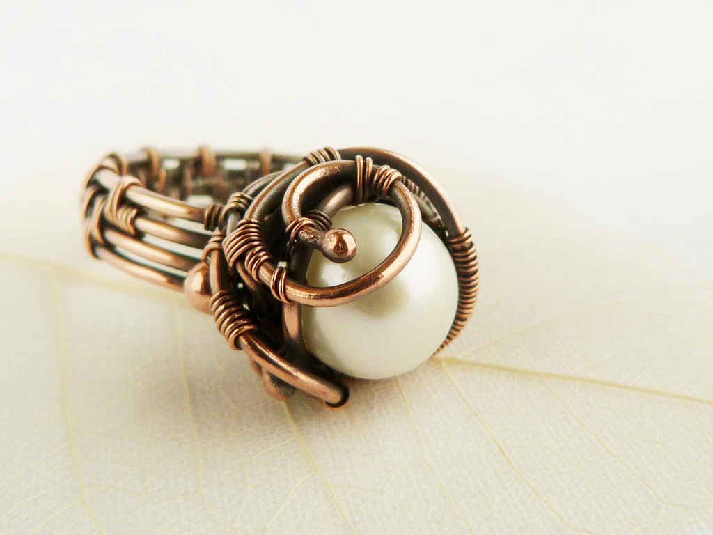 wire ring pearl by ursulajewelry on deviantart