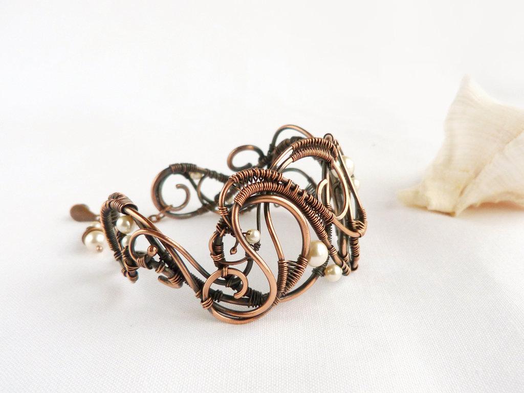 Ailla- wire wrapped bracelet by mea00 on DeviantArt