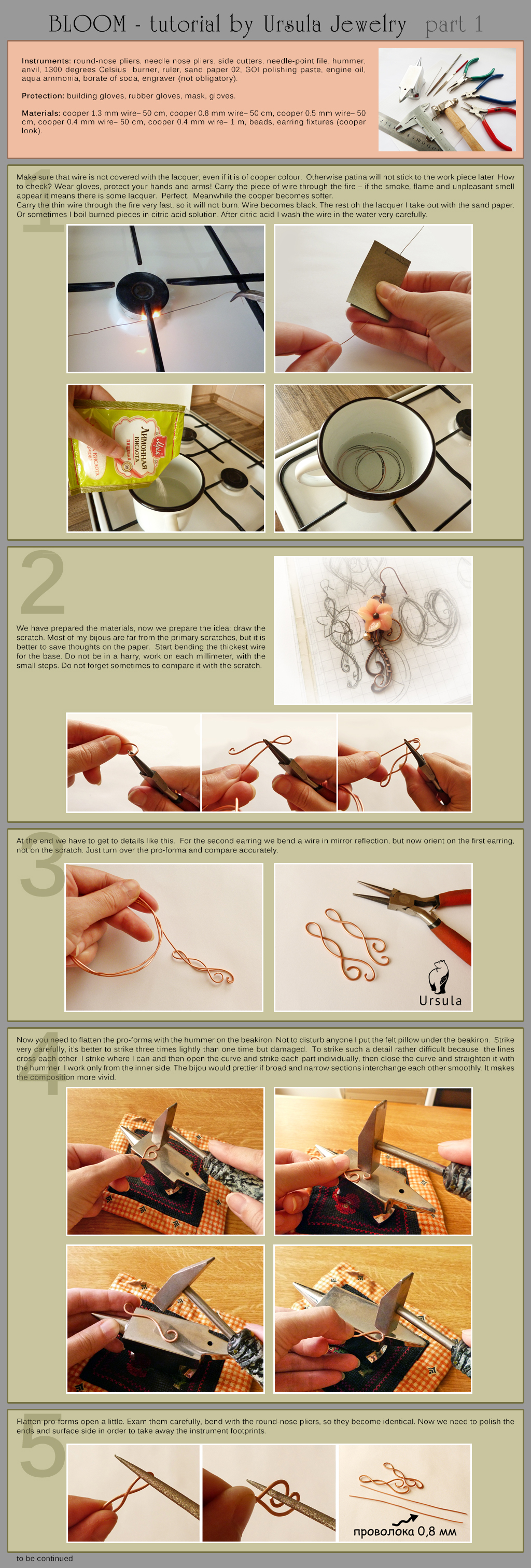 Jewelry Tutorial - Bloom earrings - part 1 by UrsulaOT
