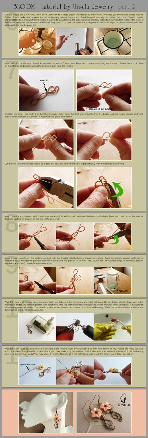 Jewelry Tutorial - Bloom earrings - part 2 by UrsulaJewelry