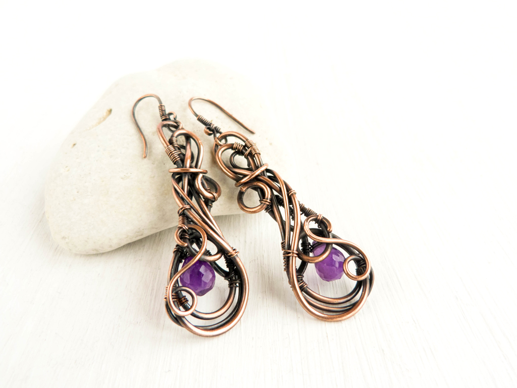 Harmony wire earrings by UrsulaOT
