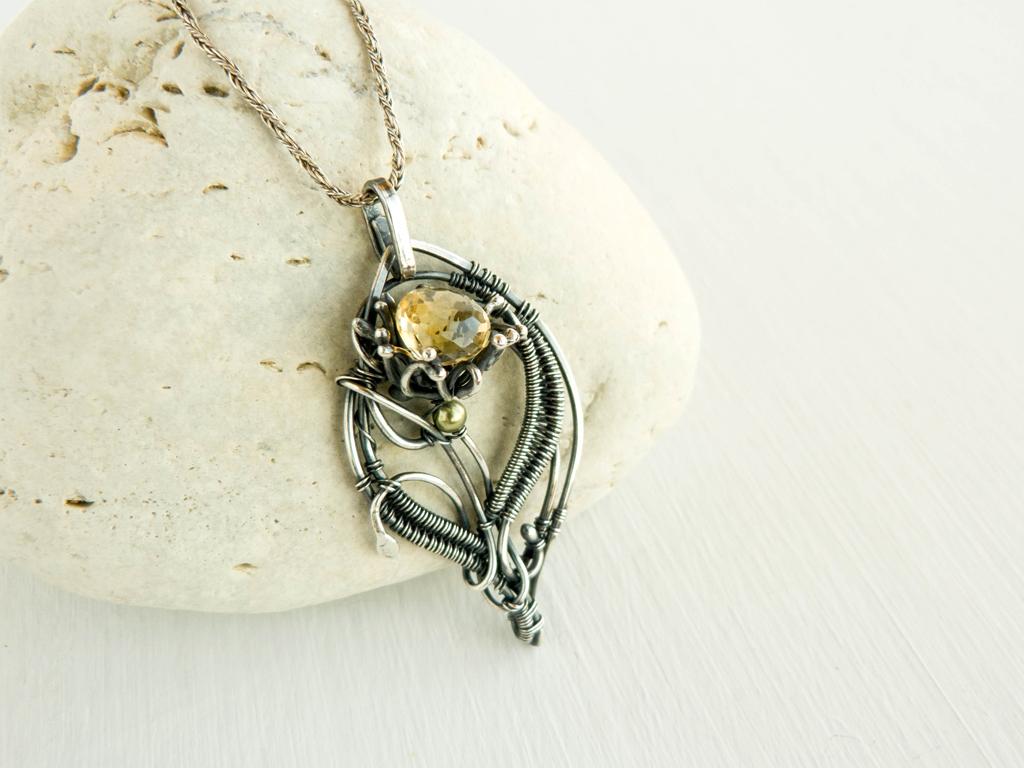Silver dandelion by UrsulaJewelry