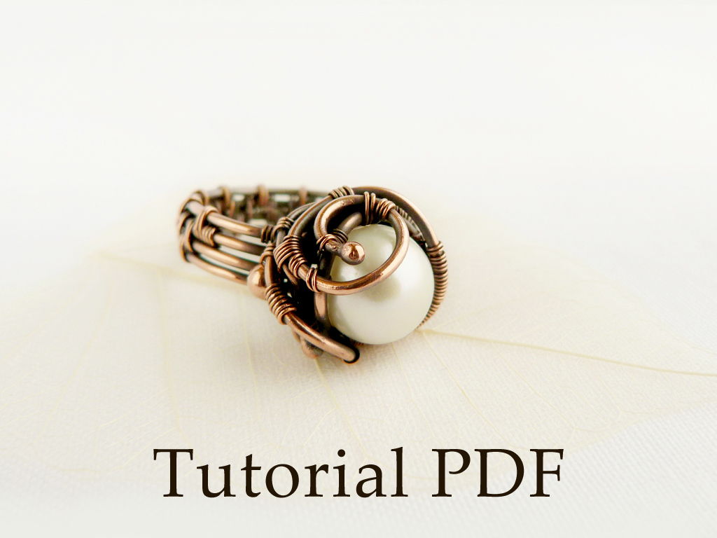 Wire wrap tutorial - Pearl ring by UrsulaJewelry on DeviantArt