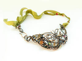 Hot summer wire copper necklace