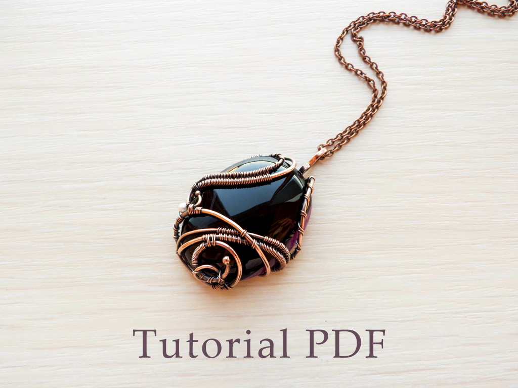 Tutorial - Wire pendant with cabochon by UrsulaJewelry on DeviantArt